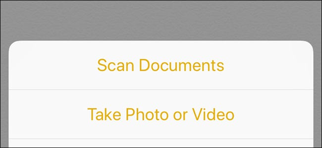 Scan documents feature on iPhone