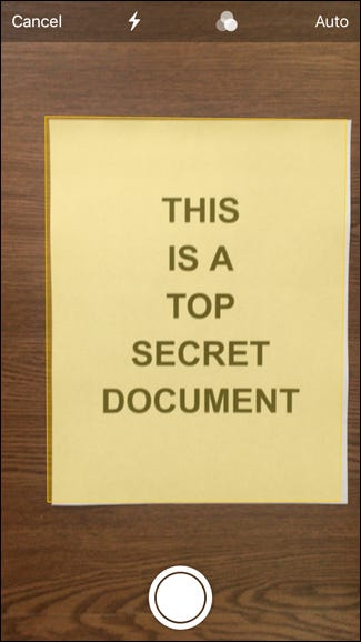 Scan a document