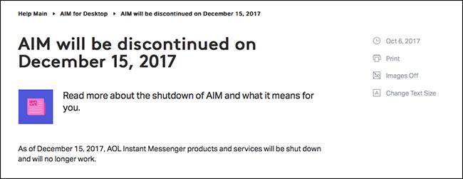 RIP AIM, the Messaging App AOL Never Wanted