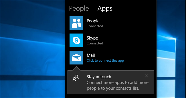 "How to Use ""My People"" on Windows 10's Taskbar"