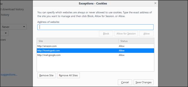 كيفية حظر ملفات تعريف الارتباط في أي متصفح Block Cookies