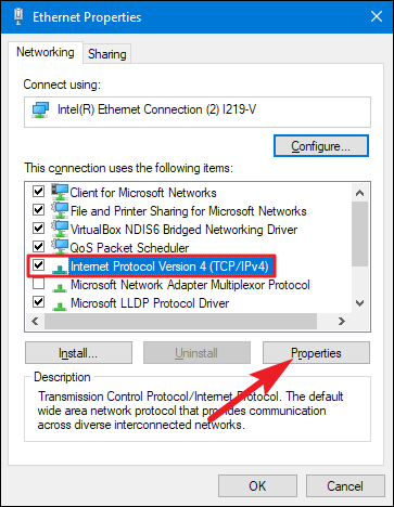 Setting a static ip address in windows 10.