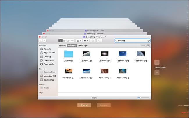 mac time machine restore