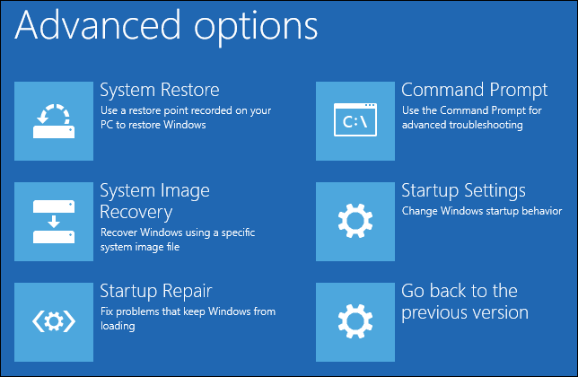 windows startup repair screen