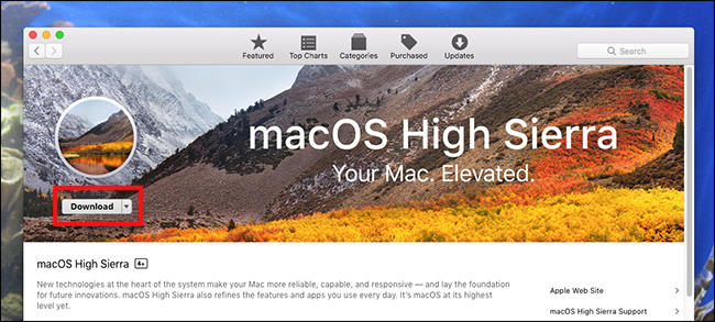 mac os high sierra download iso windows