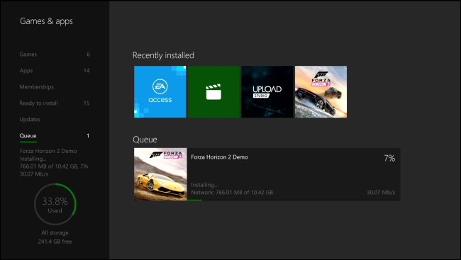 does xbox one s download games while off