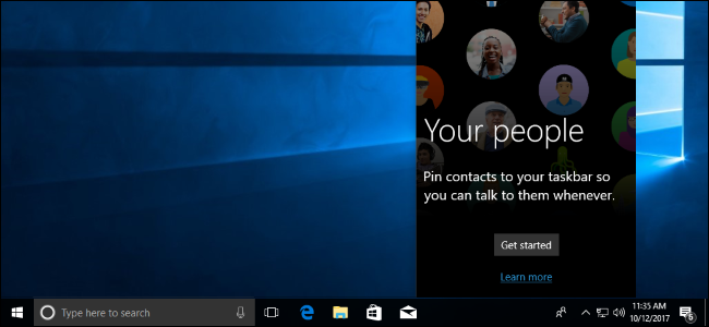 "How to Use ""My People"" on Windows 10's Taskbar"