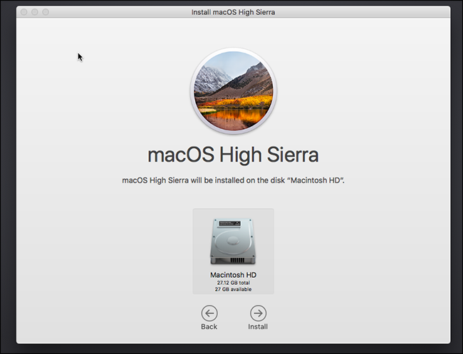 install macos high sierra on virtualbox on windows