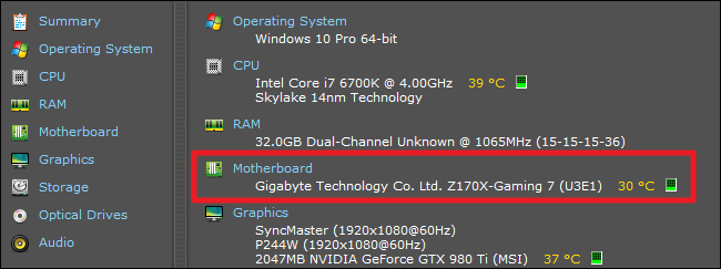 how to tell motherboard model windows 7