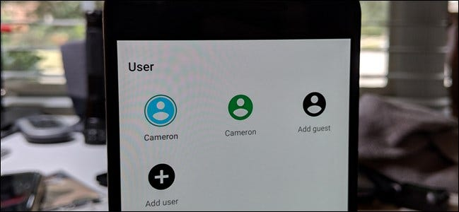 Multiple user accounts on an Android phone