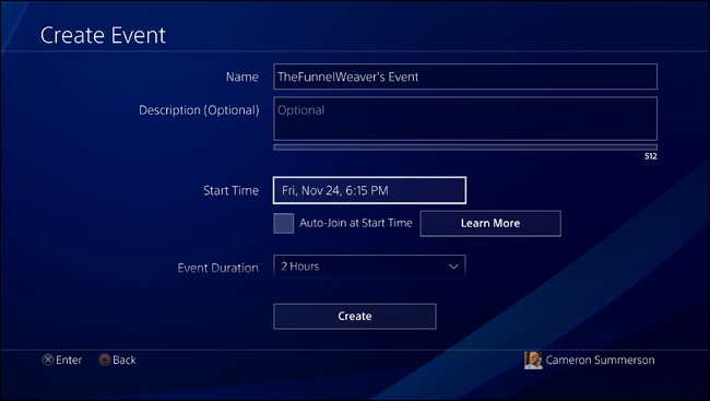 How to Create a Game Event on the PlayStation 4 or Pro