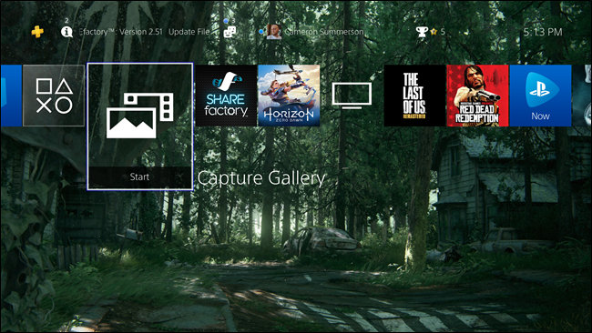 how to find capture gallery on ps4