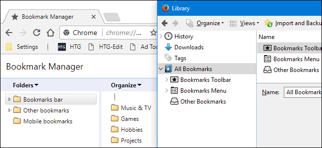 how to manage firefox bookmarks on mac