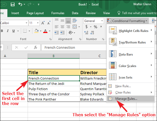 How to Highlight a Row in Excel Using Conditional Formatting