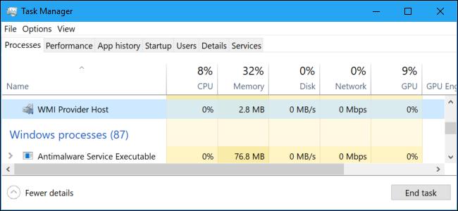 windows management instrumentation high cpu