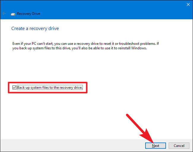 How to Create and Use a Recovery Drive or System Repair Disc in