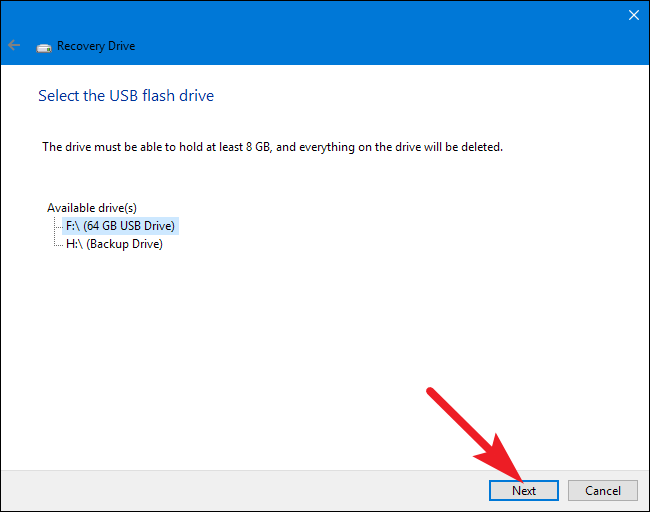 how to make usb recovery disk windows 10