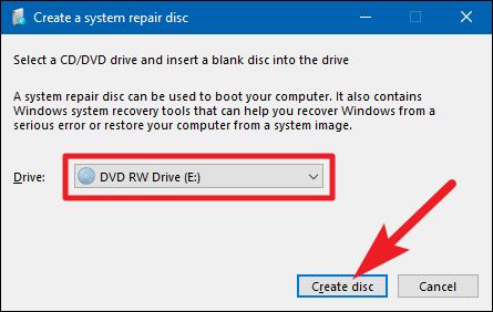 make windows 7 repair disc