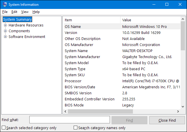 4 Cách Để Kiểm Tra Chi Tiết Cấu Hình Hệ Thống Windows 10 - AN PHÁT