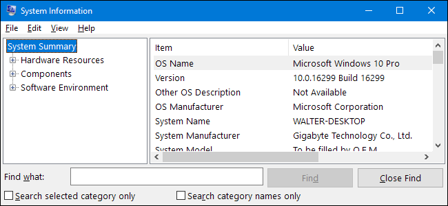 How to Open the System Information Panel on Windows 10 or 8