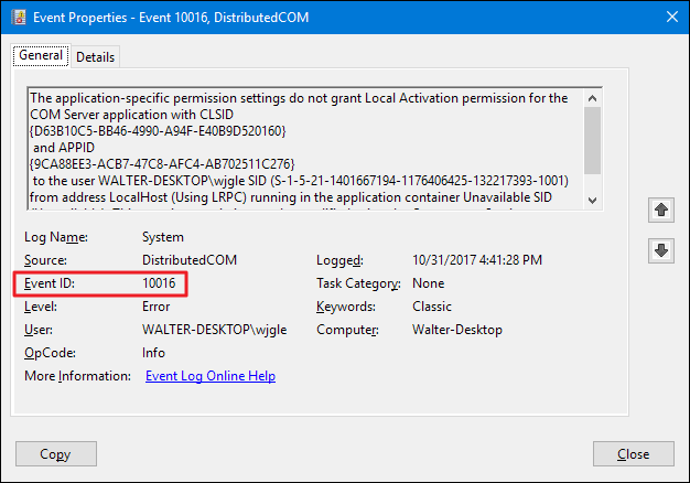 event viewer windows 10 location