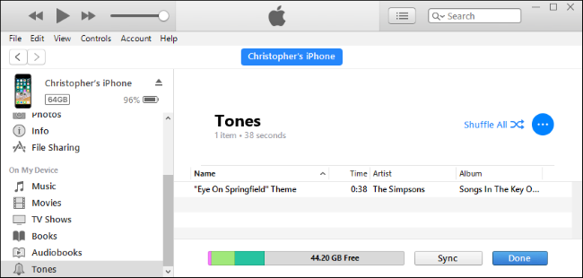 how to sync ringtones to iphone with itunes