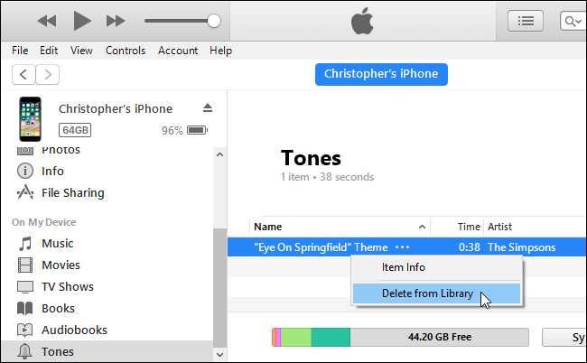 remove ringtone from iphone 8