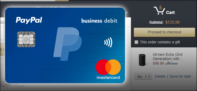 how to change paypal card