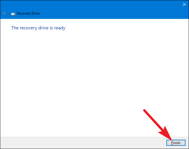 creating a recovery drive windows 8.1