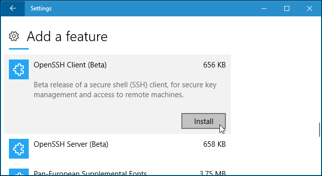 How to Enable and Use Windows 10's New Built-in SSH Commands