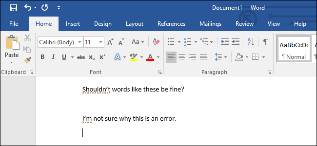 How to Stop Microsoft Word from Underlining Contractions