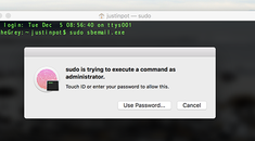 How to Run Sudo Commands Using Touch ID on macOS