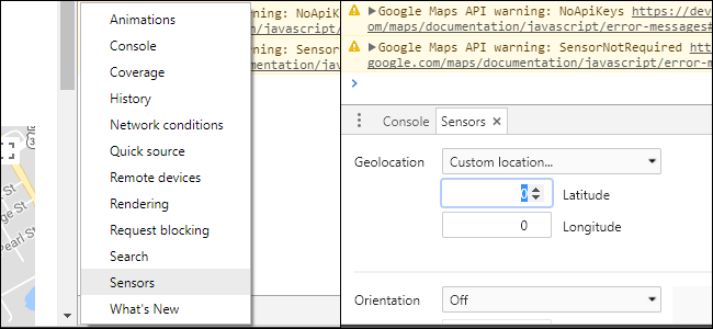how to set location on google