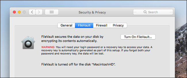 How to Encrypt Your Mac's System Drive, Removable Devices