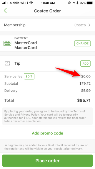 Save 10% on Instacart by Opting Out of the Service Fee