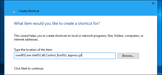 How to Get to the Old Uninstall Programs Panel on Windows 10