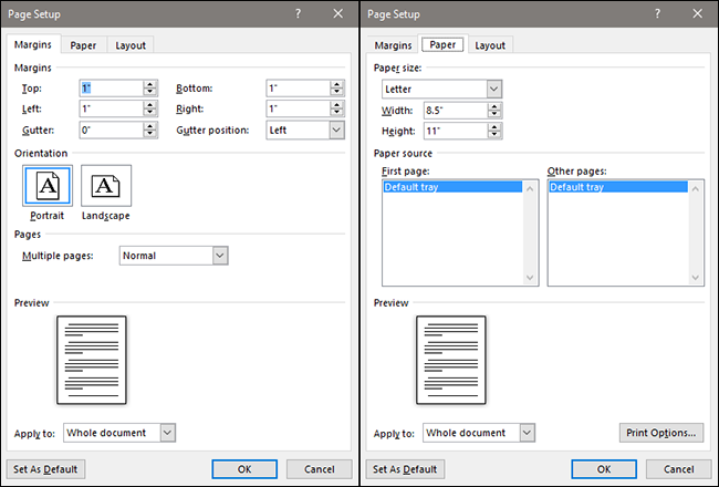 How to use rulers in microsoft word if youre printing your document the paper tab lets you can change the physical size of the paper to match different paper sizes in your printer ccuart Images
