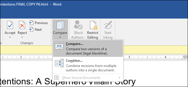 How to Use Microsoft Word's Compare Feature
