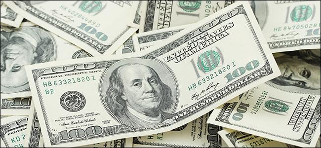A pile of $100 bills.