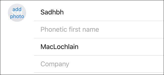how to add name to contacts