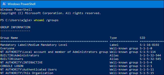 How to See Which Groups Your Windows User Account Belongs To