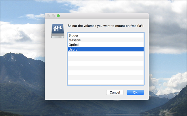 Mount a Windows Share in macOS and Have it Reconnect at Login