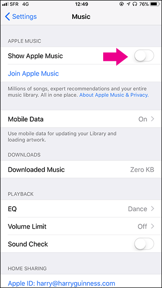 how to delete apple music app from iphone