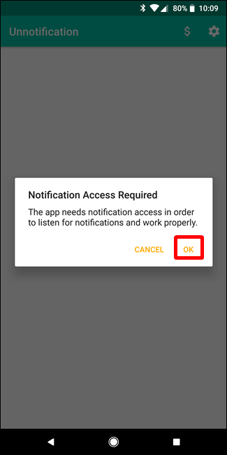 Notification options android