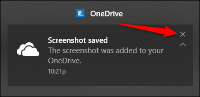 click X to dismiss a notification