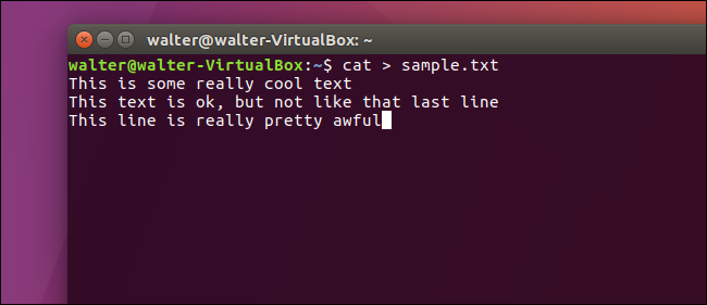 How to Quickly Create a Text File Using the Command Line in