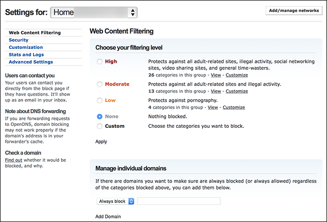 How to Set Up Whole-House Parental Controls with OpenDNS
