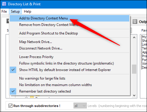 How to Print or Save a Directory Listing to a File in Windows