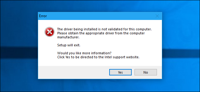 "How to Fix ""The Driver Being Installed Is Not Validated For This"