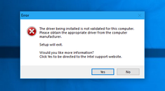 "How to Fix ""The Driver Being Installed Is Not Validated For This Computer"" on Intel Computers"